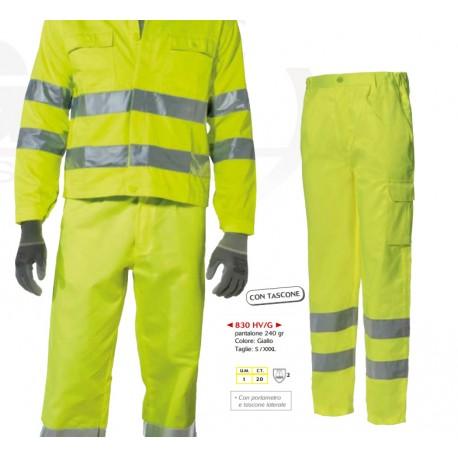Pantaloni alta visibilità estivi gialli