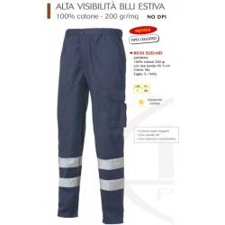 Pantaloni alta visibilità blu