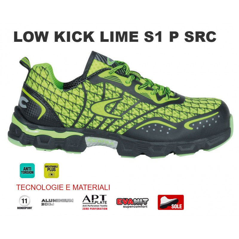Scarpe antinfortunistiche Cofra Low Kick Lime S1 P