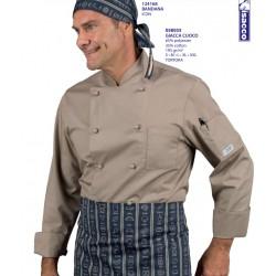 Giacca da cuoco Tortora Isacco