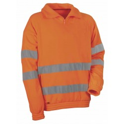 Felpa alta visibilità arancione