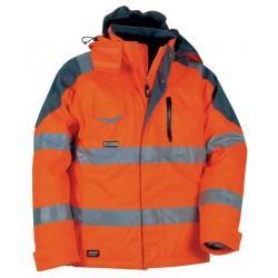 Giacca da lavoro invernale alta visibilità arancione