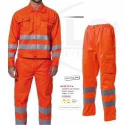 Pantaloni alta visibilità estivi arancioni